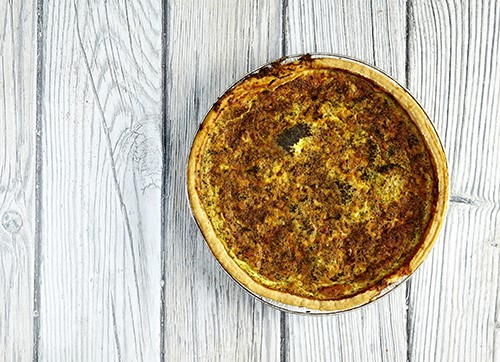 Stilton and Broccoli Quiche